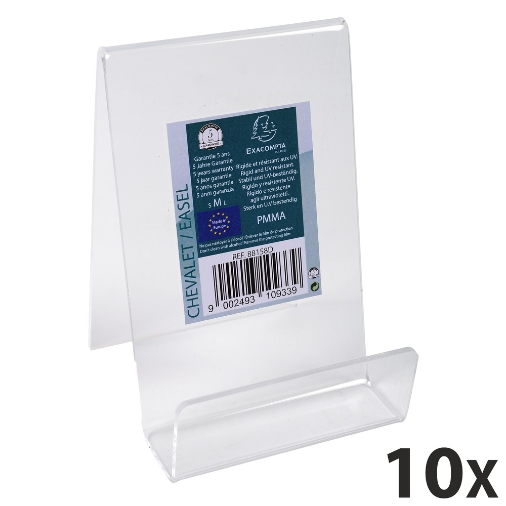 Exacompta - 10 Chevalets support d'objet taille M