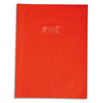 Calligraphe - Protège cahier sans rabat - 17 x 22 cm - grain cuir - rouge
