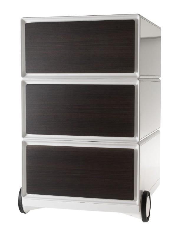 Caisson de bureau mobile EASYBOX - 3 tiroirs - Wengé
