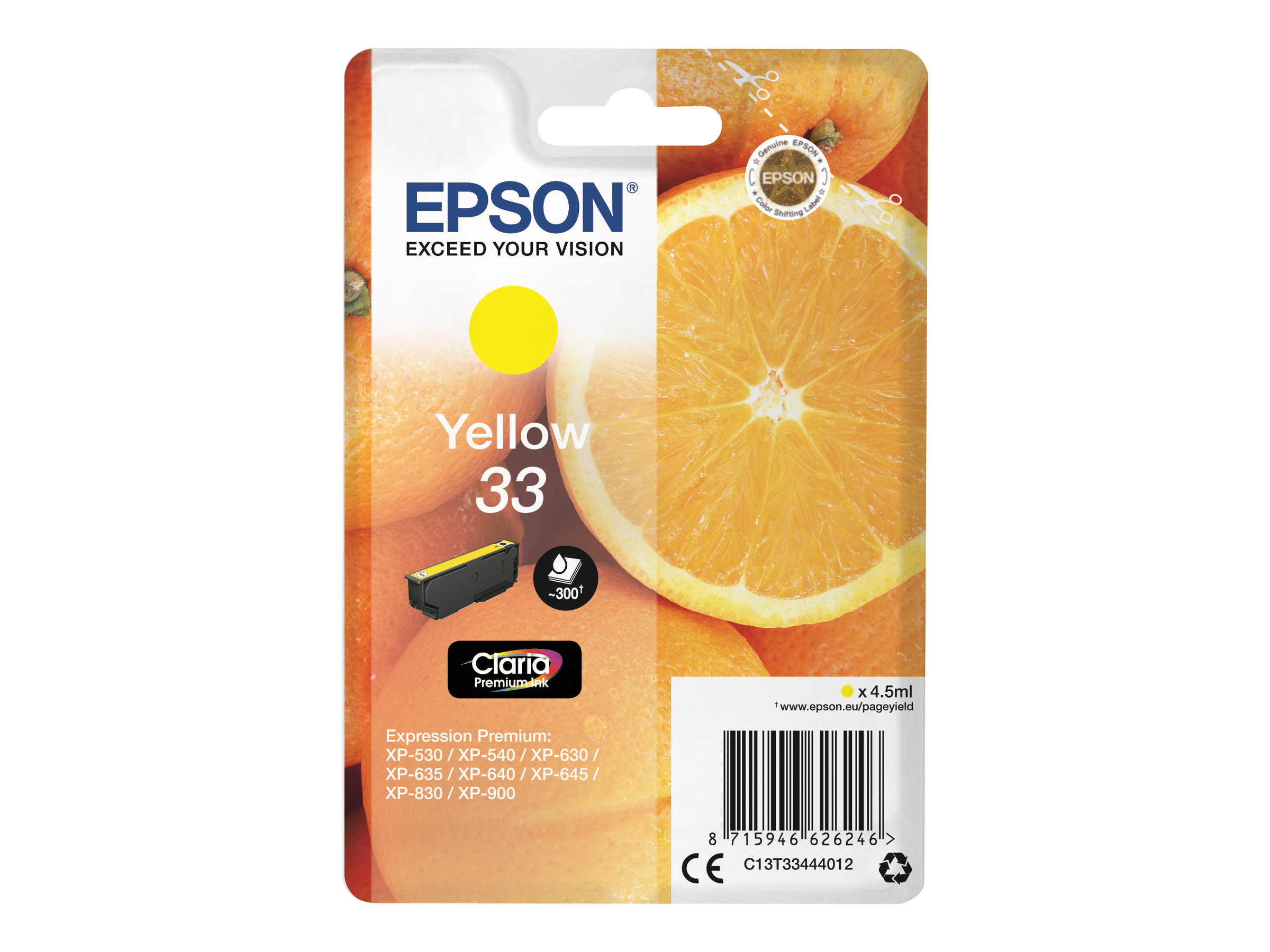 Epson 33 Oranges - jaune - cartouche d'encre originale