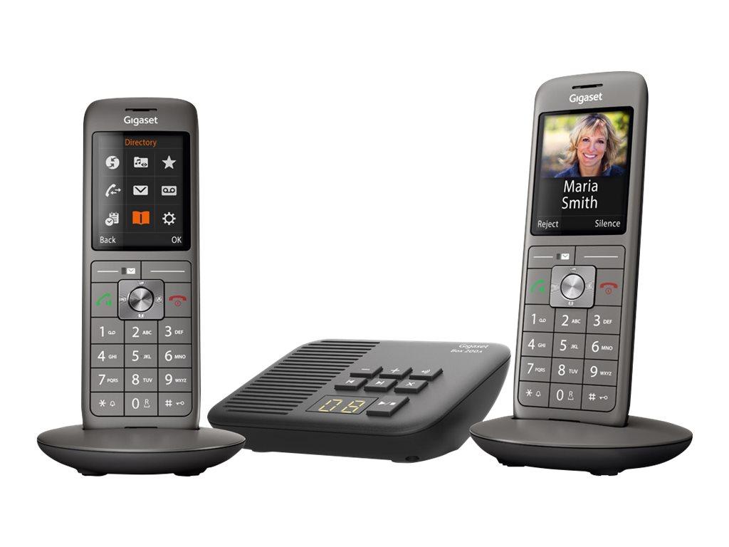 Gigaset CL660A Duo - téléphone sans fil - avec répondeur + combiné supplémentaire - anthracite
