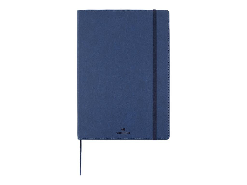 Oberthur Balthazar - Carnet de notes souple A5 - ligné - 200 pages - bleu