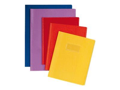 Calligraphe - Protège cahier sans rabat - A4 (21x29,7 cm) - grain cuir - rouge