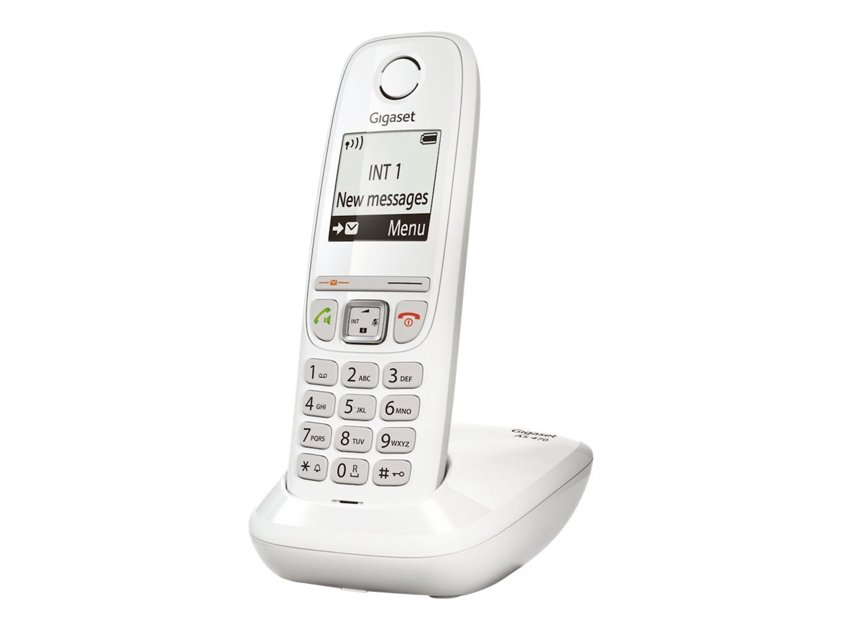 Gigaset AS470 - téléphone sans fil - blanc