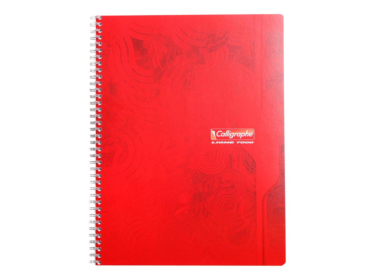 Calligraphe 7000 - Cahier à spirale 24 x 32 cm - 180 pages - petits carreaux (5x5 mm) - disponible dans différentes couleurs