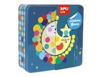 Apli Kids - Boîte métallique jeu de gommettes - Lune