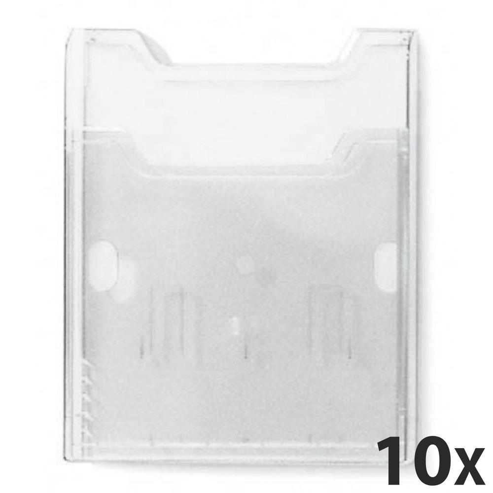 Exacompta Wall-Box - 10 Présentoirs muraux porte-brochures A4 vertical