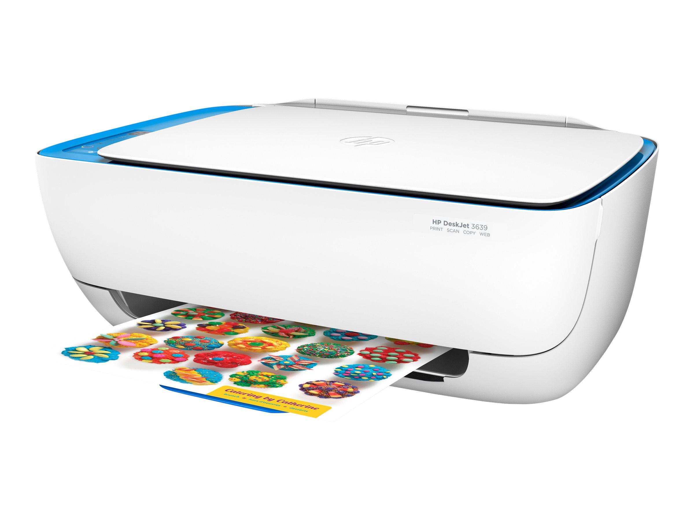 HP Deskjet 3639 All-in-One - imprimante multifonctions jet d'encre couleur A4 - Wifi, USB