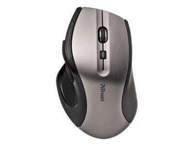 Trust MaxTrack Wireless - souris sans fil ergonomique  - noire et grise