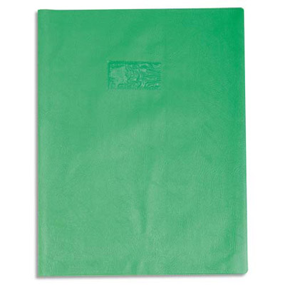 Calligraphe - Protège cahier sans rabat - 24 x 32 cm - grain losange - vert
