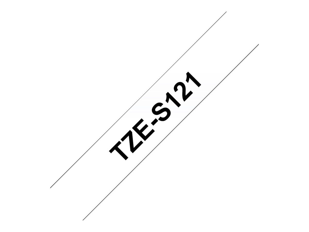 Noir sur fond Transparent Ruban original Lamin/é adh/ésif puissant 12 mm Brother TZe-S131 8M