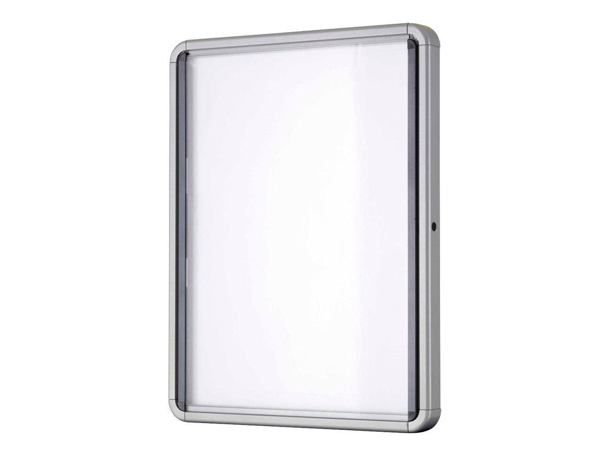 Tableau D Affichage Vitré nobo - vitrine intérieure 9 a4 (1000 x 752 mm) - cadre aluminium fond métal