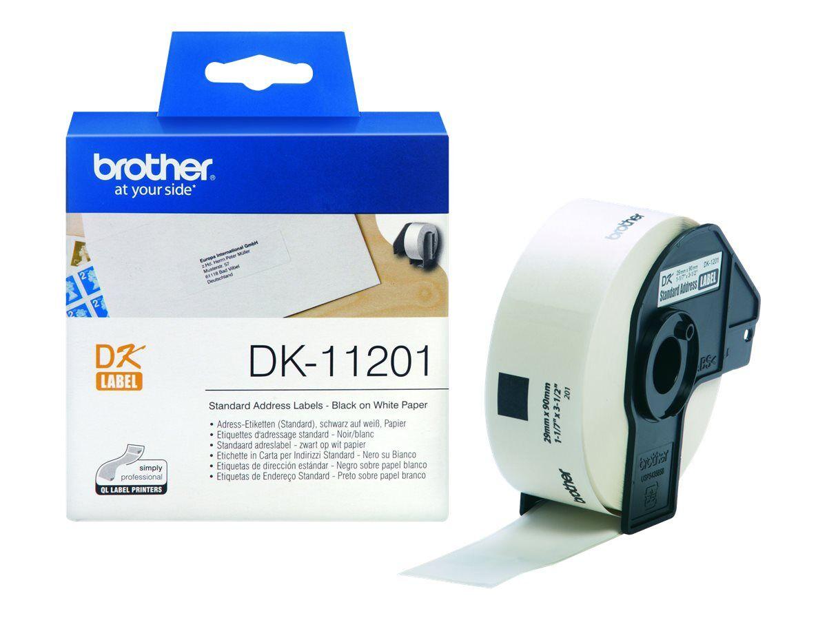1 Pc Rouleau de dk11201 dk11201 compatible Brother étiquettes d/'adresse 29 mm x 90