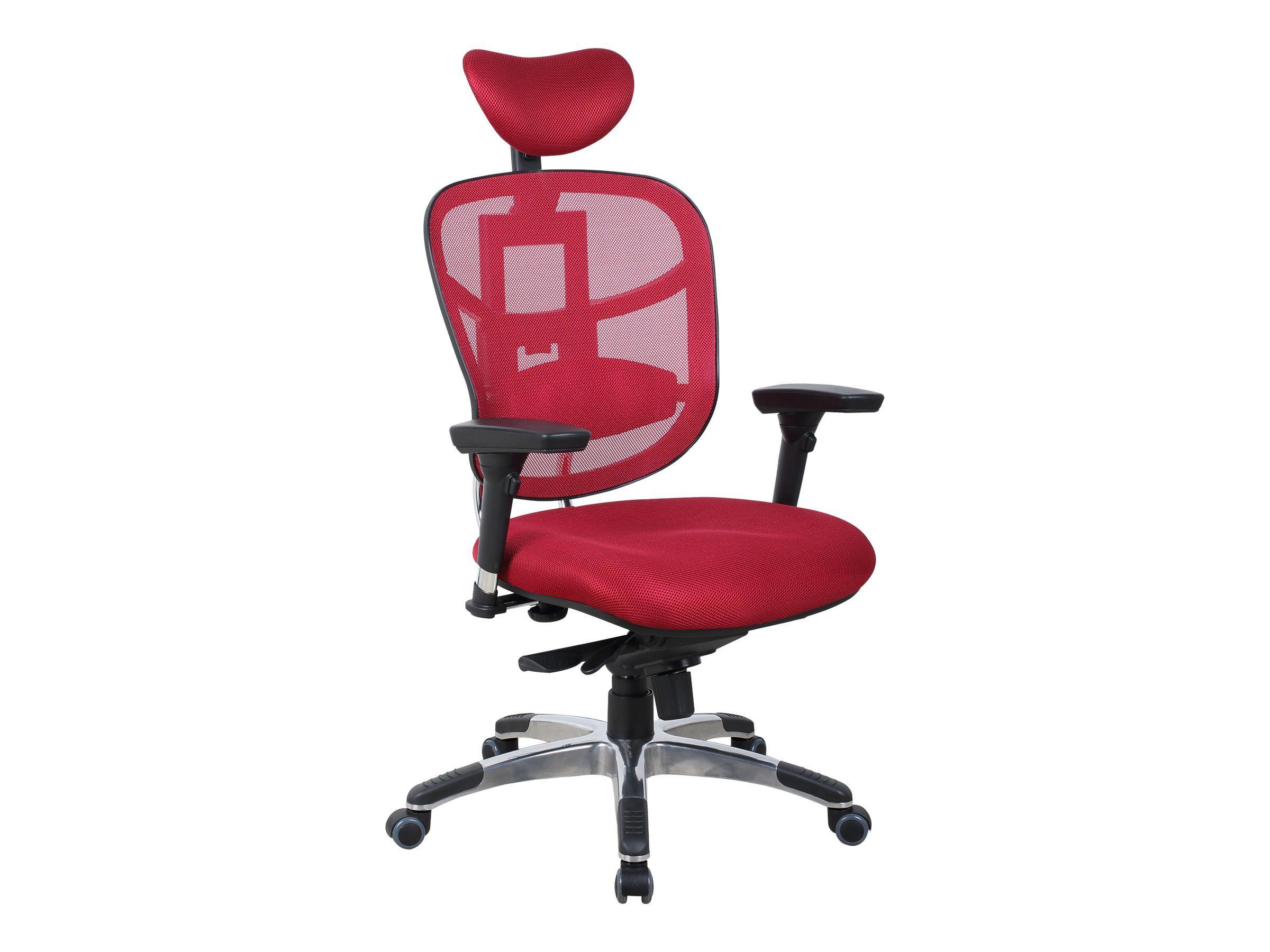 regard détaillé 1899f 1edfb Fauteuil de bureau ergonomique - TECKNET - Appuie-tête - Accoudoirs  réglables - Rouge bordeaux
