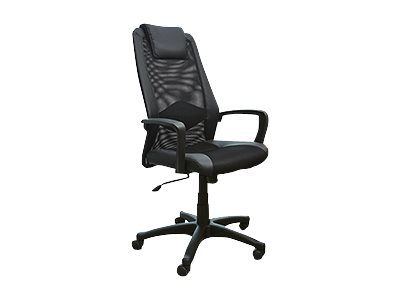Fauteuil de bureau confortable BUSINESS Accoudoirs fixes Noir