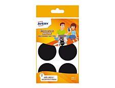 Avery - 48 Étiquettes ardoise rondes noir - diamètre 48 mm