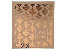 Exacompta Palmyre - 2 Livres d'or 21 x 19 cm - 140 pages - nude palmier