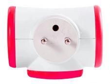 WATT & CO - Multiprise triplite rotative - blanc/rouge