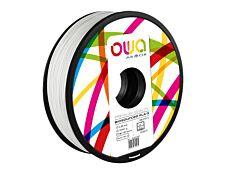 OWA - filament 3D PLA-S - blanc - Ø 2,85 mm - 2200g