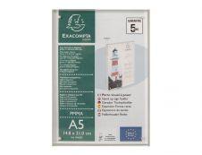Exacompta - Porte-visuel fermeture magnétique - A5 - double face