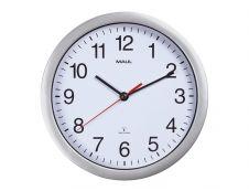 MaulRun - Horloge - mécanisme radio pilotée - 25 cm - blanc argenté