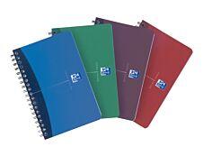 Oxford Office Essentials - Carnet à spirale 11 x 17 cm - 180 pages - petits carreaux (5x5 mm) - disponible dans différentes couleurs