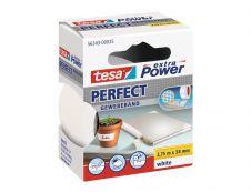 Tesa extra Power Perfect - Ruban adhésif en toile - 38 mm x 2.75 m - blanc