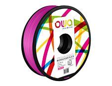 OWA - filament 3D PLA-S - rose - Ø 2,85 mm - 750g