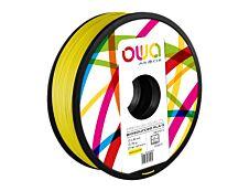 OWA - filament 3D PLA-S - jaune - Ø 2,85 mm - 750g