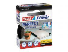 Tesa extra Power Perfect - Ruban adhésif en toile - 19 mm x 2.75 m - noir