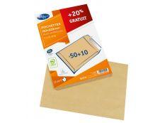 La Couronne - 60 Pochettes Enveloppes (dont 20% gratuit) - C5 162 x 229 mm - 90 gr - brun - bande auto-adhésive