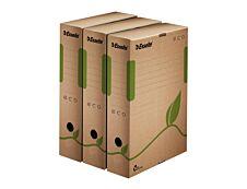 Esselte Eco - 25 boîtes archives - dos 8 cm - marron 100% recyclé