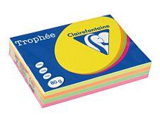 Clairefontaine Trophée - Papier couleur - A4 (210 x 297 mm) - 80 g/m² - 500 feuilles - coloris fluos assortis