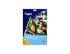 Apli-Agipa - 10 Étiquettes brillantes qualité photo - A4 - coins droits