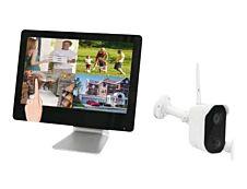 MCL  Kit de vidéosurveillance Wifi -  écran tactile, NVR intégré, caméra + carte Micro SD 128Go