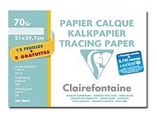 Clairefontaine Fine Arts - Pochette papier à dessin calque - 15 feuilles - A4 - 70G