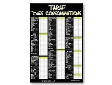 Bequet - Panneau de Tarif des consommations « A la craie » - 40 x 60 cm - vert