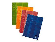 Clairefontaine - Cahier à spirale A4 (21x29,7 cm) - 100 pages - petits carreaux (5x5 mm) - disponible dans différentes couleurs
