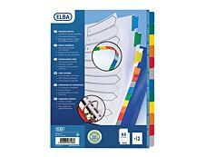 ELBA StrongLine - Intercalaire 12 positions - A4 Maxi - carte blanche