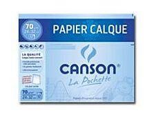 Canson - Pochette papier à dessin calque - 12 feuilles - 24 x 32 cm - 70G