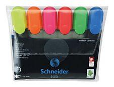 Schneider Job - Pack de 6 surligneurs - couleurs assorties