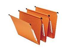 Fast Standard - 25 Dossiers suspendus pour armoires - orange - fond 30 mm