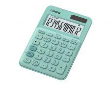Calculatrice de bureau Casio MS-20UC - 12 chiffres - alimentation batterie et solaire - vert