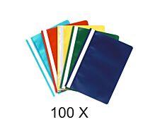 Exacompta - 100 Chemises de présentation à lamelles - couleurs assorties