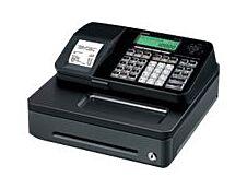 Casio SE-S100 - Caisse enregistreuse - 2000 PLU - Tiroir : 5 pièces et 3 billets - noir - certifié loi fiscale 2018