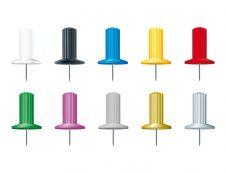 Exacompta - 25 Épingles papic - 10 mm - couleur assorties