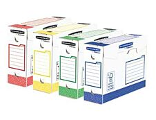 Bankers Box Heavy Duty A4+ - 8 boîtes archives - dos 10 cm - couleurs assorties - Fellowes