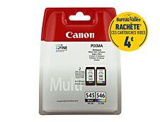 Canon PG-545/CL-546 - Pack de 2 - noir, cyan, magenta, jaune - cartouche d'encre originale