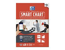 Oxford SmartChart - Recharge pour paperboard - 20 feuilles repositionnables Scribzee