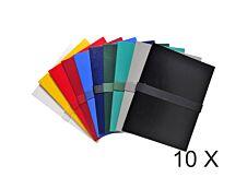 Exacompta - 10 Chemises extensibles à sangle - couleurs assorties
